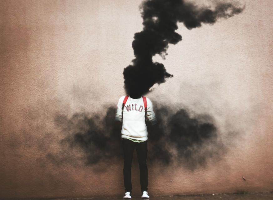 #FreeToEdit  #man #boy #blak #smoke #bomb #explosion  #life #love #edit  #head #arms #quiet #place