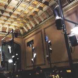kfc beautiful architecture interior golden freetoedit