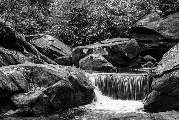 blackandwhite photography nature waterfall stream
