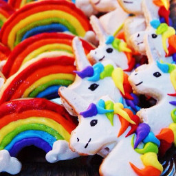 colorful cookies unicorns cute fluffy freetoedit