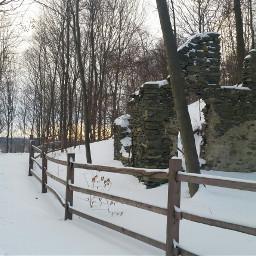 freetoedit snow trail sunrise ruins