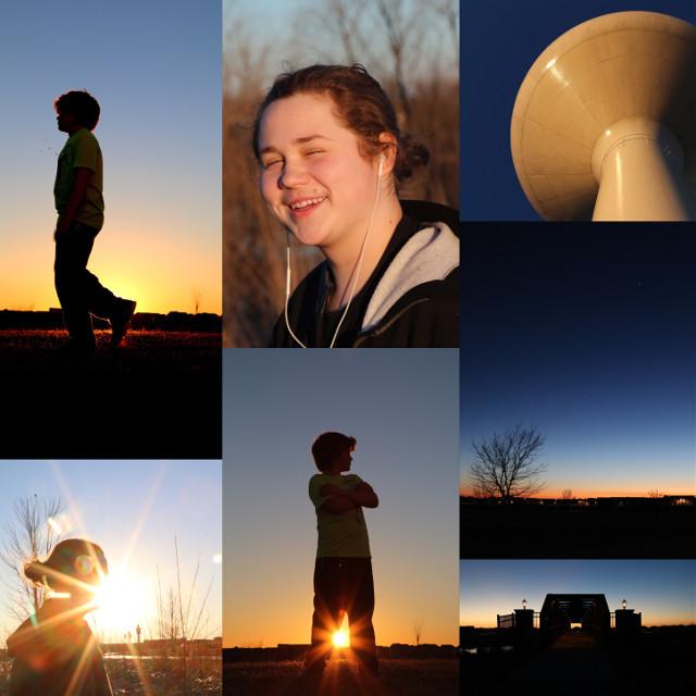 #collage #sunset #session #FreeToEdit #boy #teenager