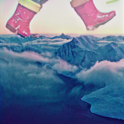freetoedit rainboots mountains explore rain