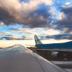 flight airplane sky freetoedit