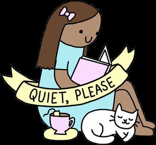 #girl #gato #cat #tea #chá #book #livro #freesticker